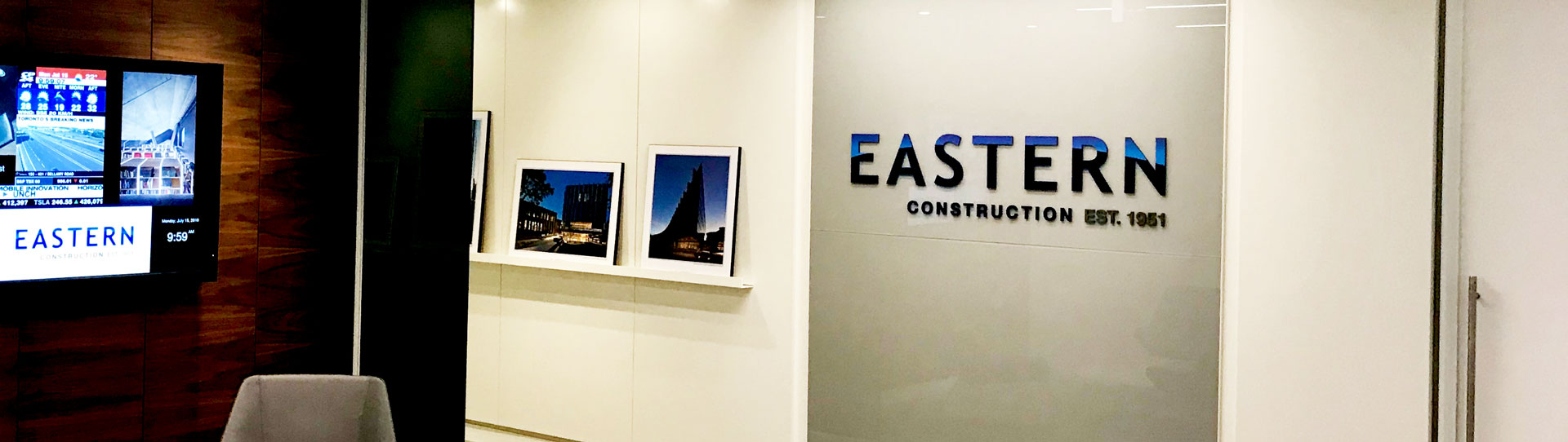 Eastern Construction New Reception Area